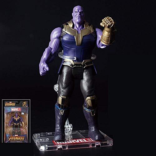 Hyzb Avengers Juguetes - Titan héroe de Potencia Serie FX Figuras Thanos Figura de acción de articulación móvil con Soporte e iluminación Base de Regalo del cumpleaños del niño (Color: Negro)
