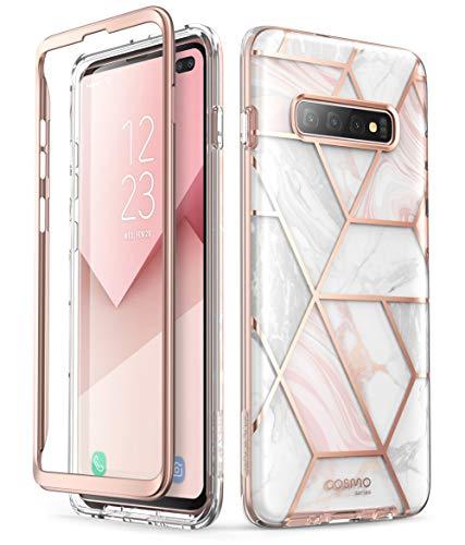 i-Blason Funda Galaxy S10 Plus [Cosmo] Antigolpes Carcasa Protector Compatible con Samsung Galaxy S10 Plus 2019 (Mármol)