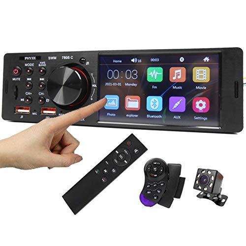 ALLWIN Touch Screen Car Radio 1 DIN 4.1'Bluetooth Audio Video Player MP5 Player TF USB Carga RÁPIDA ISO Remoto Sistema Stereo CABETE Unidad