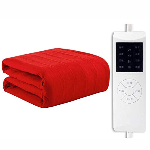 Elektrische deken, supersize, blanket Throw Soft, grote bovenlaag elektrisch verwarmd deken, met automatische timer-instelling, 4 verwarmingen, 180 x 80 cm