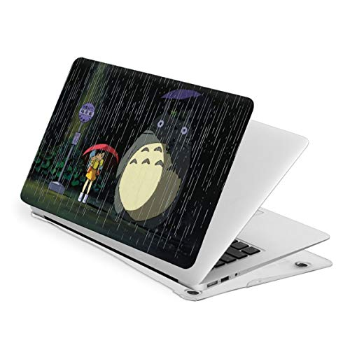 My Neighbor Totoro Rain Laptop Case PVC Computer Cover Anti Static Anime Series Plastic Hard Case Laptop Hard Shell Cover Protective Case,Anime Laptop Case for Air13