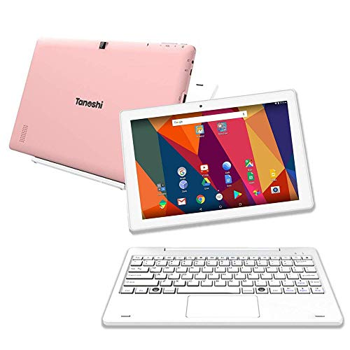 """Tanoshi 2-in-1 Kids Computer a Kids Laptop for Ages 6-12, 10.1"""" HD Touchscreen Display (Pink)"""