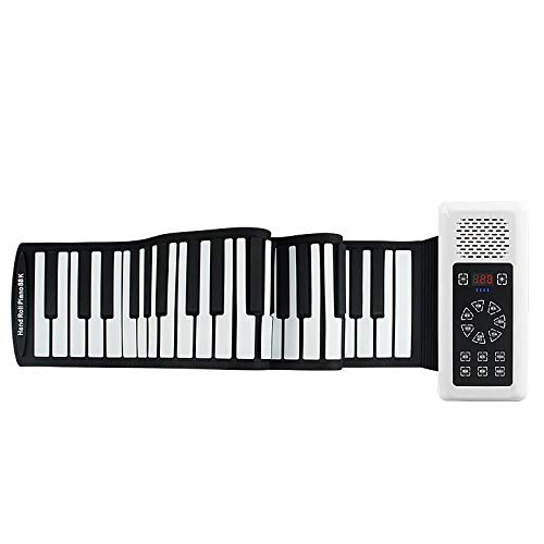 New FJFJFJ Portable 88 Keys USB MIDI Roll Up Piano Electronic Piano Silicone Flexible Keyboard Organ...