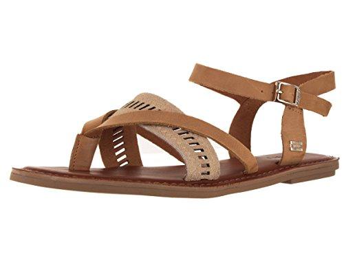 TOMS Lexie Leather Metallic Sandal Womens Shoes Size 5.5