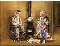 古いカップル。インチのブリキのサインヴィンテージ鉄の絵の金属板の個性ノベルティ