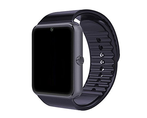 amazingforless gt08 bluetooth touch screen smart wrist watch phone with camera - black