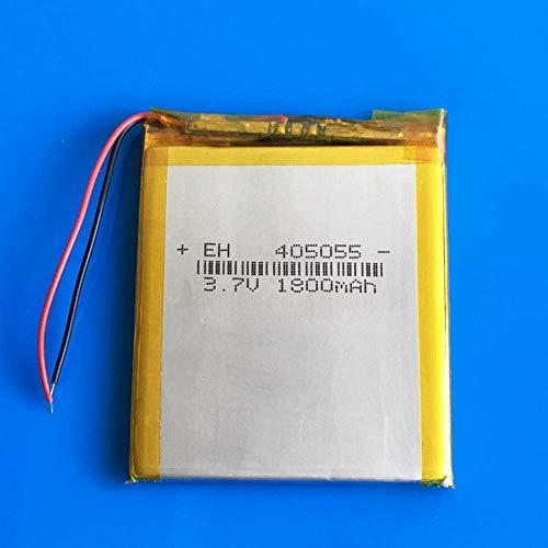GzxLaY Batería de Respaldo de Alto Rendimiento 405055 3.7V 1800mAh Lipo Polymer Lithium Batería Recargable Celdas para MP3 Power Bank Tablet PC Cámara Altavoz portátil 45055mm
