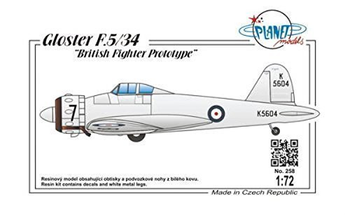 Planet Models PLT258 Gloster F.5/34 British Fighter Prototype