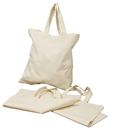 ( 6 Pack )15.7'x15.7' Reusable Cotton Canvas Tote Bag Designer Grocery Shopping Bags Convenient for Everyday Shopping Perfect for Crafting Decorating