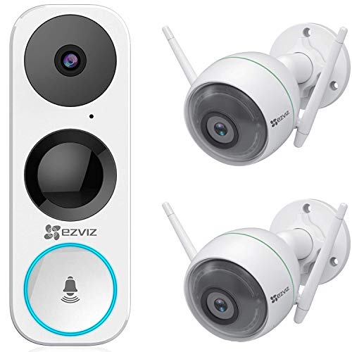 EZVIZ DB1 Smart Video Doorbell, Wi-Fi Ready, Vertical FOV + 2X Outdoor Security Camera