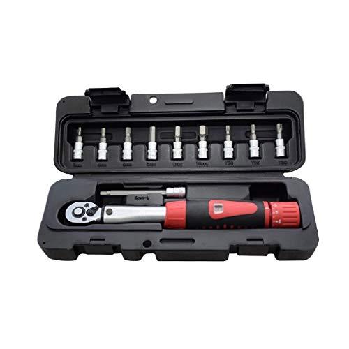 JYDQM Conjunto de Llaves de torsión de Alta precisión Industrial de 1/4'2-24nm 1/4' 2-24NM Llave de reparación de Bicicletas Kits Ratchet Torque Llaves manuales Llaves (Color : B)