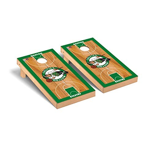 Victory Tailgate NBA Basketball Regulation Cornhole Game Set Basketball Court Version - Boston Celtics