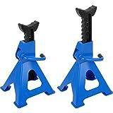 JOMAFA Caballetes mecanicos 3 toneladas (2 unidades = 6 toneladas), 2 unidades/gatos estabilizadores para apoyar el vehiculo