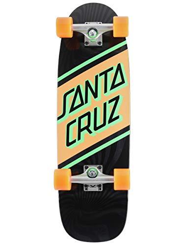 "Santa Cruz Street Cruzer Complete Skateboard, 29.05"" x 8.79"", Black/Orange/Green"