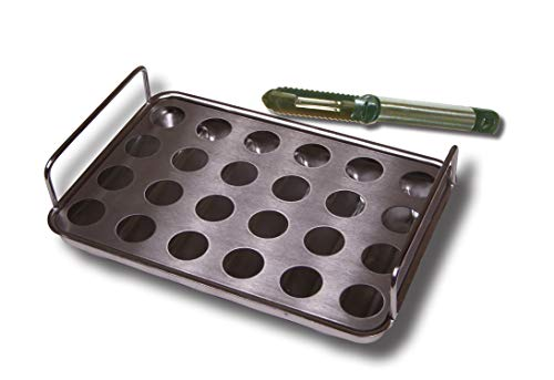 King Kooker Model 24VJR Stainless Steel Jalapeno Rack and Cooking Tray with Corer Tool