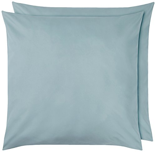 Amazon Basics Pillowcase, Bleu Spa, 65 x 65 cm