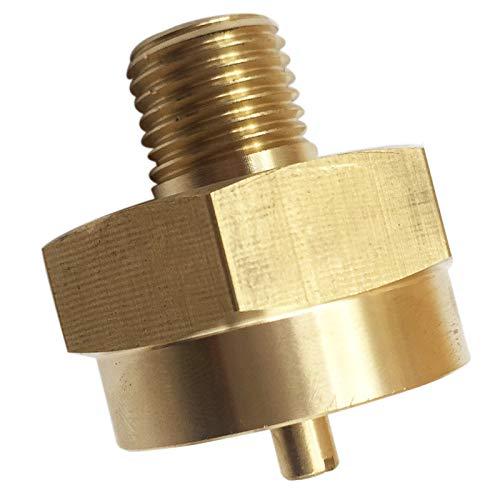 MENSI 1/4 Male Pipe Thread 1'-20 Female Throwaway Cylinder Thread Propane Adapter Fitting