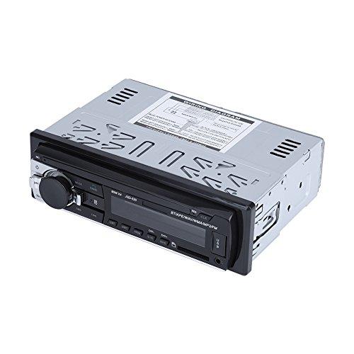 Qiilu Bluetooth Autoradio, FM Radioempfänger, Freisprecheinrichtung und eingebautes Mikrofon, digitaler Knopf Auto Audio Player Bluetooth Autoradio Radio MP3 USB SD AUX-IN FM-Player In-dash12V