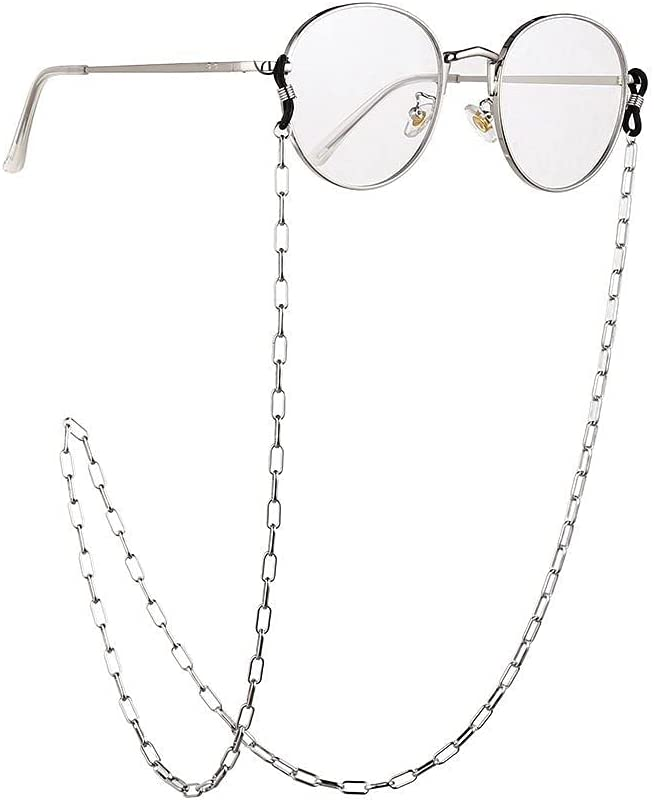 WJCCY Glasses Chain for Women Thick Chain for Glasses Lanyard Hip Hop Glasses Strap Sunglasses Cords Casual Trend Accessories (Color : B, Size : Length-70CM)