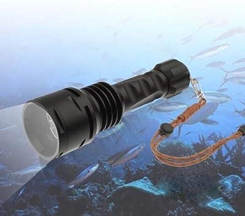 WARM home Outil TR-DF003 Robuste et Durable 100m plongée sous-Marine 3 x CREE XM-L T6 LED 3000lm 5-Mode LED Flashlight avec 2 x 26650 Batteries Chargeur Multifonction De Plein air