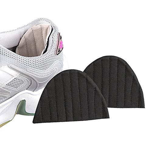 EVFIT Empuñaduras Antideslizantes Pegatinas de tacón de Zapatillas de Deporte espesadas Respirables de Sudor y Adhesivos Traseros Resistentes al Desgaste (Color : Black, Size : 0.7cm)