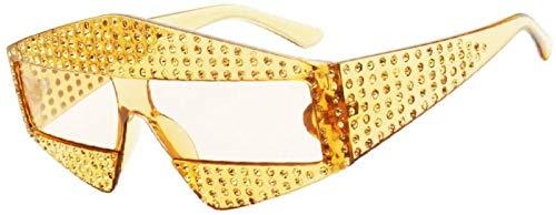NIUASH Gafas de Sol polarizadas Gafas de Sol rectangulares de Diamantes de Gran tamaño para Mujer Gafas de Sol Vintage de Cristal de Lujo para Mujer Sombras Uv400 Oculos-C03