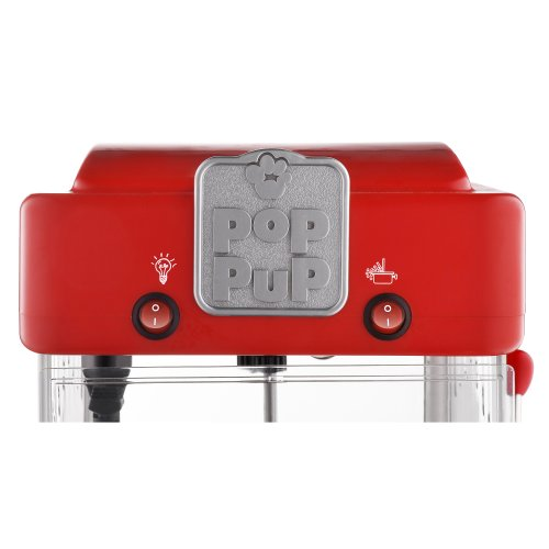 Product Image 5: Great Northern Popcorn 83-DT5622 Northern Machine Pop Pup 2-1/2oz Retro Style Popcorn Popper, 2.5 ounce, Red