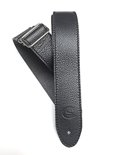 Tracolla per chitarra e basso pelle larghezza 5cm Custom Style 21503D56 (nero)