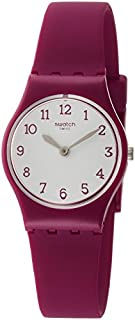 Swatch Originals Redbelle White Dial Silicone Strap Ladies Watch LR130