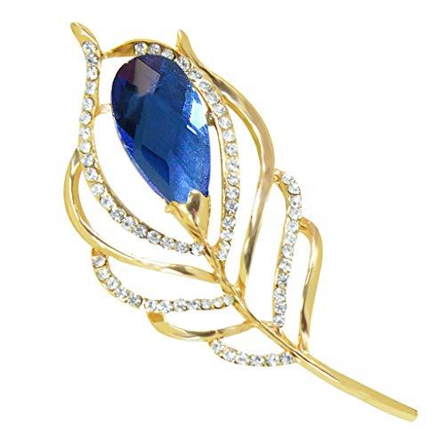 Hellery Broche Elegante Pin de La Solapa Pin Clip de La Bufanda para La Boda Fiesta de Aniversario Material de La Aleación Sin Alérgicos Sin Piel - 5