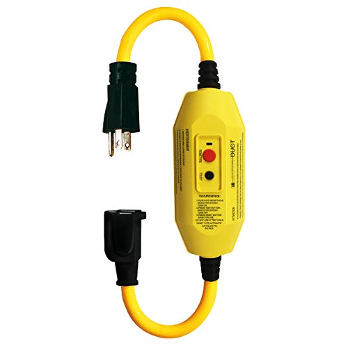 """GFCI Inline with 18"""" Single Outlet Cord"""