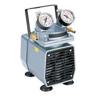 "Cole-Parmer 706140 Gast DOA-P704-AA High-Capacity Vacuum Pump, Gauge/Reg; 1.1 cfm/25.5""Hg-60psi/115V"