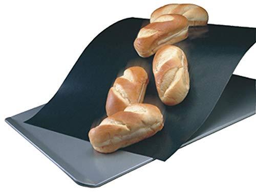2er Set culinario Dauerbackfolie, 33 x 40 cm, antihaftbeschichtet, bis 260 °C erhitzbar, als Backpapier Ersatz verwendbar