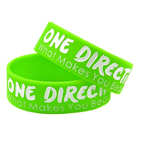 One Direction was Macht schön Silikon Armband Armband Breite 1 (Color : Green)