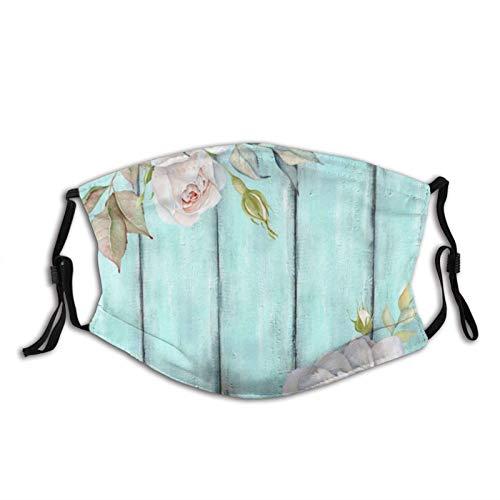 asdew987 Shabby Country Chic Cara de tela lavable reutilizable boca Ma_sk cubierta transpirable con bucles ajustables para los oídos