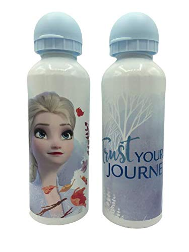 ML Una Botella de Agua de Aluminio, cantimplora térmica a Prueba de Fugas sin BPA para Levar a la Escuela y Deportes el Termo 500ml para niños y niñas (Blanco)