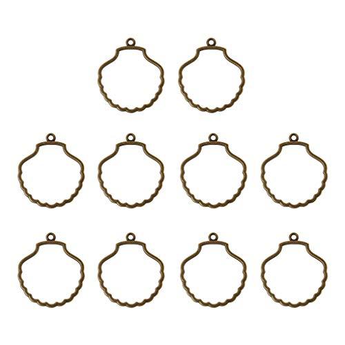 Boji Bisel colgante, 10 unidades, marco de resina, colgante con parte trasera abierta, para la fabricación de joyas de resina UV, para manualidades, joyas estampadas