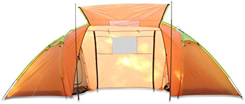 CBWZDJZDS Outdoor-Zwei-Zimmer, EIN Zimmer Manuelles Campingzelt, 4 Personen, Wasserdicht, Moskitosicher, Touristisches Campingzelt