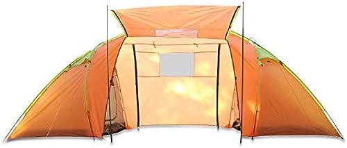 CBWZDJZDS Tente De Camping Manuelle Extérieure, Deux Chambres, 4 Pièces, Imperméable, Anti-Moustiques, Tente De Camping Touristique