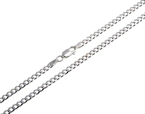 Kinder-Panzerkette, Kinderkette, 3mm Breite - Länge wählbar 32-37cm - echt 925 Silber