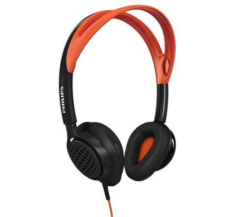 Philips SHQ5200/10 - Auriculares deportivos de diadema cerrado (3.5 mm, 40 mW, 101 dB), negro y...