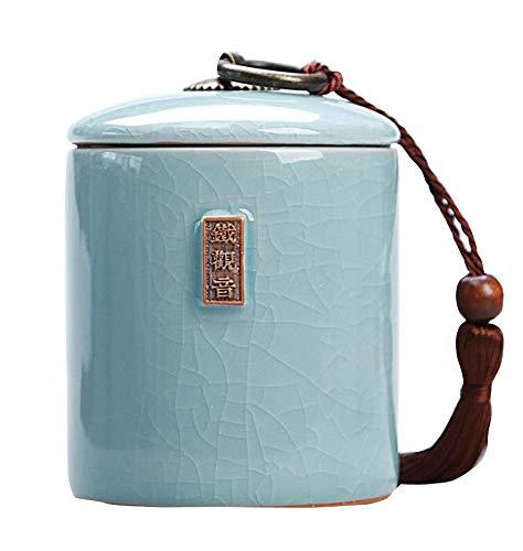 Jingyun Japanisches traditionelles Teedose-Keramik-Tee-Kanister-Tee-Glas-Ausgangsverzierung B04