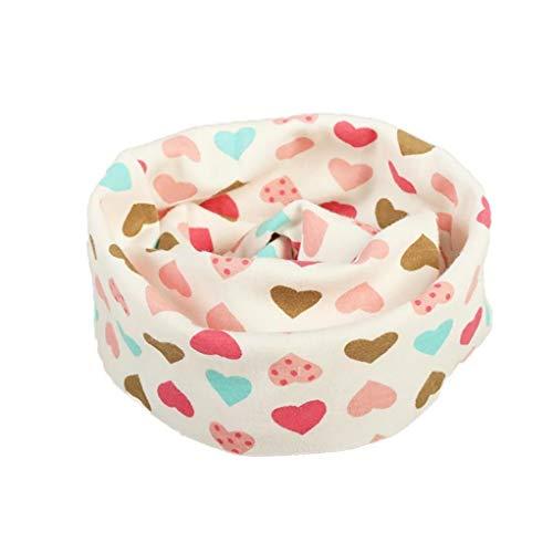 1 Pezzo Bambini Collare Sciarpa Al Collo Del Bambino Sciarpa Cotone Warmer Per L'Autunno E L'Inverno Cuore