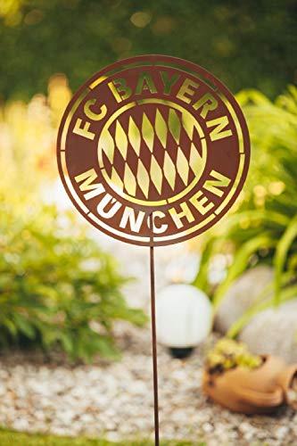 Ferrum Gartendeko Gartenschild Gartenstecker Metall Gartenstab Bundesliga Fußball München
