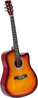 BoPeep 41 Inch Wooden Folk Acoustic Guitar Classical Cutaway Steel String w/Bag