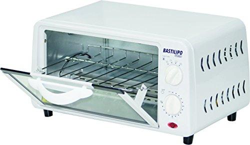 BASTILIPO Pisa–Mini Ofen Toaster mit Fassungsvermögen von 9L, Lüftungsgitter Auto Abnehmbar, 800W, Weiß