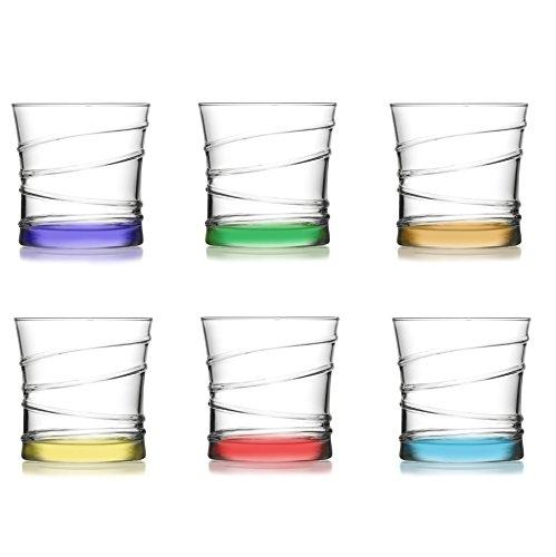 technic24 LAV 6 TLG. Design Wassergläser aus hochwertiges Glas Saftglas Wasserglas Getränkegläser 320 ml