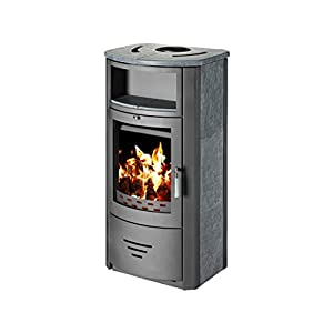 Estufa de leña chimenea diseño moderno caldera estufa para madera, nuevo 8kW