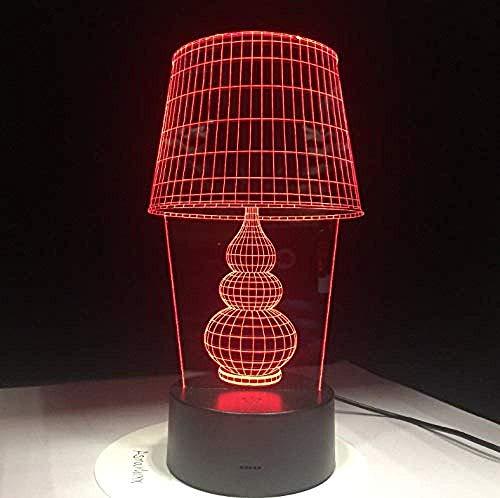 3D Illusion Night Light 7 Colores Led Vision Botón De Escritorio Usb Como Decoración De Arte En El Hogar Ordenador Portátil De 5 V Pc Power Colorido Regalo Creativo Control Remoto