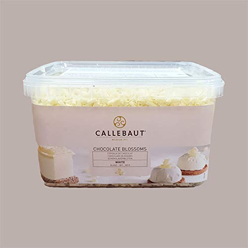 LUCGEL Srl (1 Kg) Trucioli Riccioli Cioccolato Bianco Blossoms White Callebaut x Pasticceria e Gelato